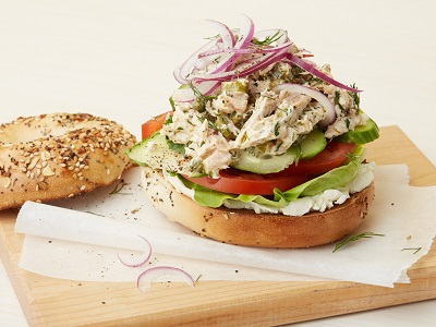 Tyler Florence's Tuna Everything Bagel As Seen On Food Network's Tyler's Ultimate